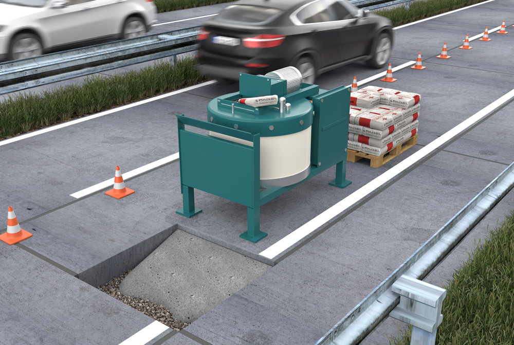 Industrial floors and traffic areas